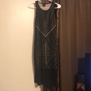 Long dress thin patterned slip